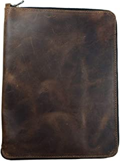 Hide & Drink, Leather Zippered Journal Cover for Moleskine Notebook, XXL (8.5 x 11 in.), Notebook NOT Included, Cahier Case, Handmade Includes 101 Year Warranty :: Bourbon Brown