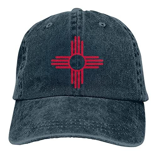 of New Mexico Gorra de Mezclilla Deportiva Ajustable Snapback Unisex Llanura Sombrero de Vaquero de béisbol Estilo clásico