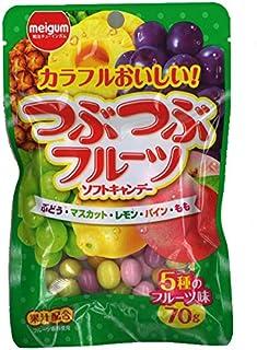 明治チューインガム つぶつぶフルーツ 70g×10袋