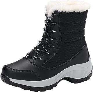 Boomboom Winter Warm Women Non-Slip Waterproof Ankle Snow Boots