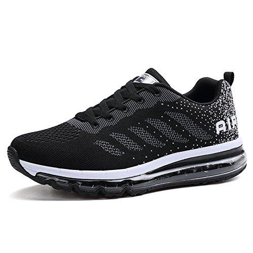 Unisex Herren Damen Sneakers Sportschuhe Bequeme Laufschuhe Schnürer Air Running Shoes 35-45(833BK41)