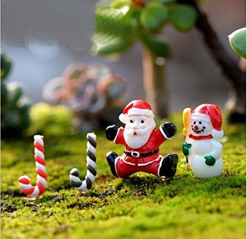 urtop 40pcs/set, varios estilo resina Mini Papá Noel Muñeco de nieve Navidad decoración figura en miniatura Adorno de jardín de hadas Mini resina manualidades niños DIY accesorios: Amazon.es: Hogar