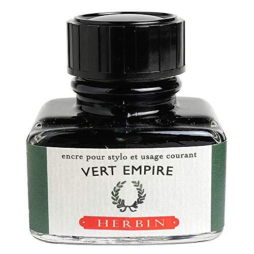 Herbin 13039T - Inchiostro per penna stilografica e roller, 30 ml, Verde (Impero)