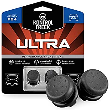 KontrolFreek Ultra for Playstation 4  PS4  and Playstation 5  PS5  Controller | Performance Thumbsticks | 2 High-Rise Concave | Black