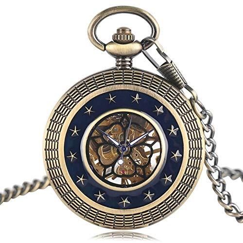J-Love Movimiento mecánico Estilo Vintage Reloj de Bolsillo Colgante de Mujer con Regalos