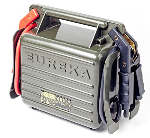 Eureka Avviatore Emergenza per Auto Camper e Camion. Innavativo Emergency Starter Booster Made in Italy 5000A - Per uso Professionale. Qualità Garantita