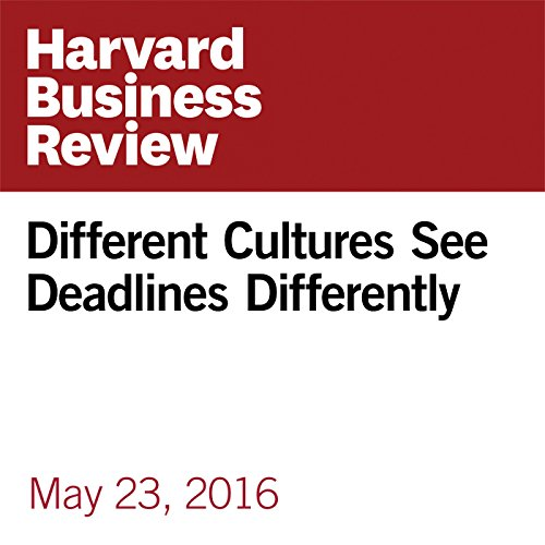 Different Cultures See Deadlines Differently copertina