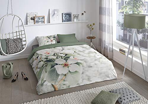 Good Morning! Blossom 2626.99.01 Renforcé Bed Linen 2-Piece Duvet Cover 140 x 220 cm Pillowcase 60 x 70 cm Multi-Coloured