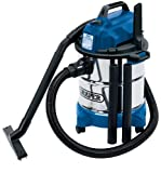 Draper 13785 Wet & Dry Vacuum Cleaner with Stainless Steel Tank, 20L, 230V