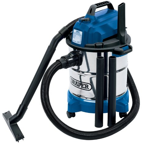 Draper 13785 Wet & Dry Vacuum Cleaner with Stainless Steel Tank, 20L,...