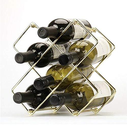 ASDZ Botelleros De Metal para 5 Botellas - Soporte para Botellas De Vino Desmontable Independiente Compatible con Botellas De Diferentes Tamaños