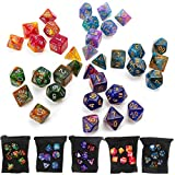 7 unids/set dados poliédricos para DND RPG MTG juego Dungeons & Dragons D4-D20 colores dados