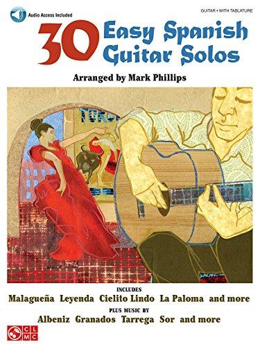 30 Easy Spanish Guitar Solos: Noten, Sammelband für Gitarre (Book & Audio Access)