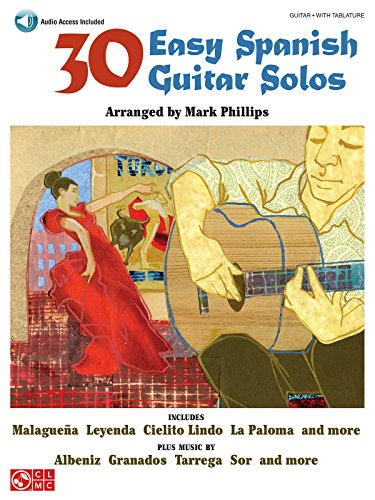 30 Easy Spanish Guitar Solos (GUITARE)