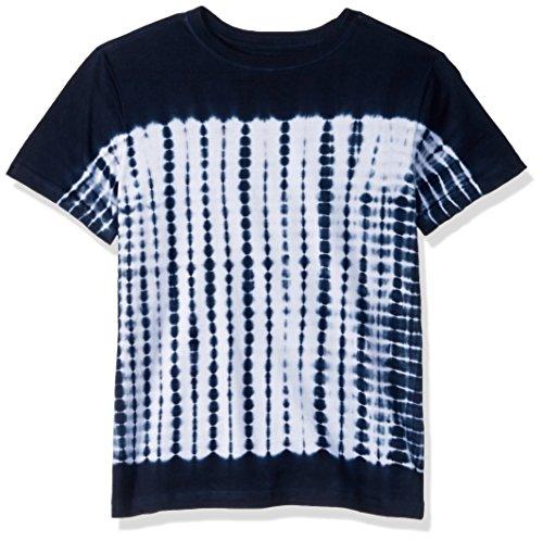Gymboree Boys' Big Short Sleeve Fun Graphic Tee, Navy Shibori tie dye, M
