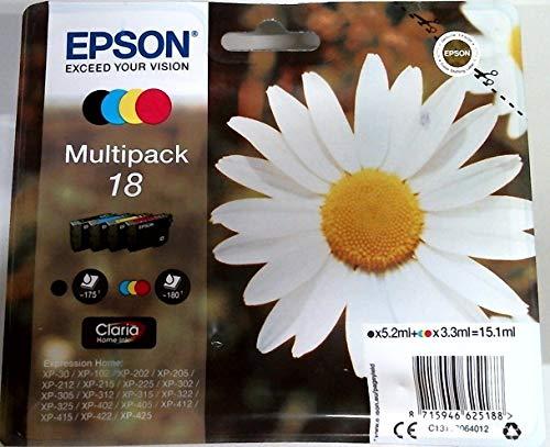 Epson C13T18064012 - Cartucho de tinta original para Epson XP-30 (multipack),...