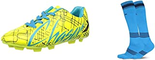 Vector X CHASER-KIDS-GRN-BLK-FIROZI-13 Football Shoes13 UK (multicolour)