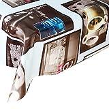Wachstuch Tischdecke Kaffee · Tischdecke Abwaschbar und Beständig · Plastik Wachstuchtischdecke Rechteckig · Wachstuch · Mehrere Designs und wirtschaftlich · Messungen ( 140/160 cm x 140 cm )