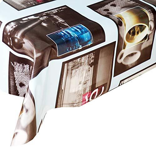 Mantel Hule Café · Mantel Antimanchas Resistente y Lavable · Mantel Mesa Rectangular en PVC · Hules para Mesas · Múltiples Diseños y Económicos · Medidas ( 100/120 cm x 140 cm )