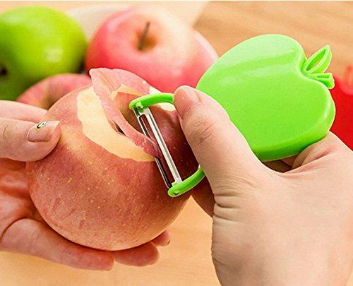 YiyiLai Éplucheur Pomme Pliable en Acier Inoxydable Utensile Accessoire pour Fruits Légume Couleur Aléatoire