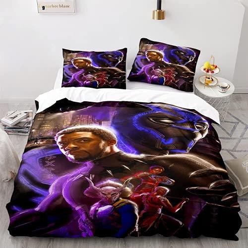 QWAS Marvel - Juego de ropa de cama infantil (2 fundas de almohada A01,220 x 240 cm + 80 x 80 cm x 2 cm), diseño de Los Vengadores