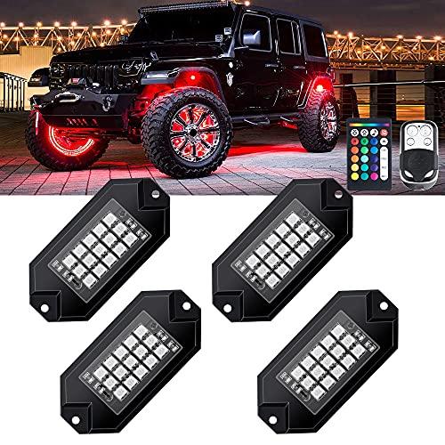 MustWin RGB LED Rock Lights 60 LEDs...