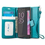 J&D Case Compatible for Sony Xperia X Case, Wallet Stand