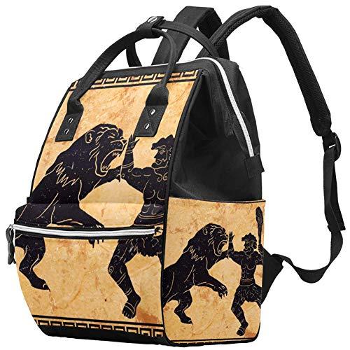 Grand sac à langer multifonction pour bébé Motif Hercules First Labor Sac à dos de voyage pour maman et papa