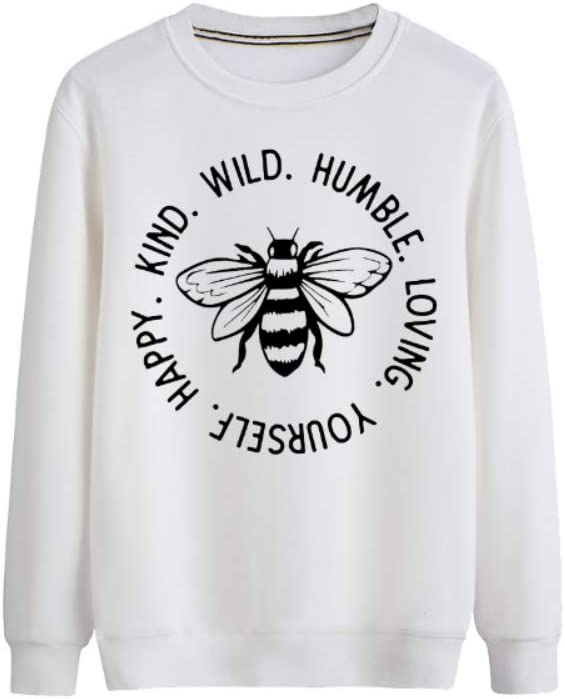 Pmnnnelpo Pullover Happy Kind Wild Humble Loving Yourself All-Match Pullover Men (Color : B01, Size : Large)