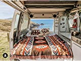 Peel Forest Kilim Woven Blanket Rugs Aztec red Navajo Tribal Throws Vanlife Bohemian Hiking Outdoors Sofa Couch Ethnic Beach mat (50'X60')…
