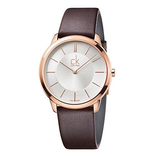 Calvin Klein Reloj Analogico para Hombre de Cuarzo con Correa en Cuero K3M216G6