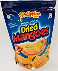 Naturally tree ripened mangoes Delicious, high in Vitamin C, Philippine Brand Dried Mangoes are a healthy alternative for an all day snack. Made in the Philippines by a leading producer of various dried fruits. Experience just one bite, you'll unders...