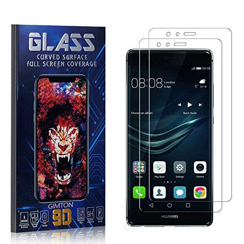 GIMTON Displayschutzfolie für Huawei P9, 3D Touch, Anti Kratzen, Keine Luftblasen Premium Displayschutz Schutzfolie für Huawei P9, 2 Stück