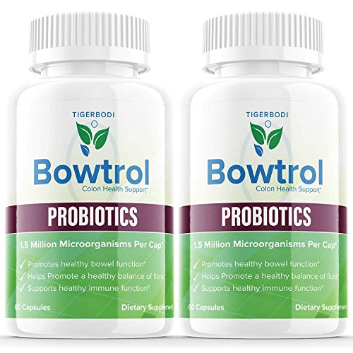 (2 Pack) Bowtrol Probiotic for Women Men Colon Cleanse Pills Maximum Strength Liver, Kidney, Colon, and Bloating Relief (120 Capsules)