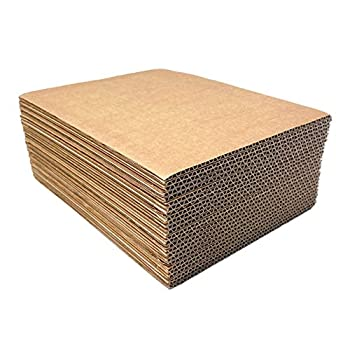 Corrugated Cardboard Filler Insert Sheet Pads 1/8  Thick - 8 x 10 Inches for packing mailing and crafts - 25 Pack
