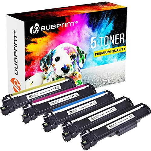 5 Bubprint Kompatibel für Brother TN247 TN-247BK Toner Patronen Ersatz TN243 TN-243CMYK für Brother MFC-L3750CDW MFC-L3770CDW HL-L3210CW HL-L3230CDW MFC-L3710CW DCP-L3550CDW MFC-L3730CDN HL-L3270CDW