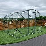 FeelGoodUK Walk in Pet Cage 2.8m x 3m Galvanised Pet Run Chicken Coop Rabbit Run Dog Pen