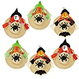 Straw Hat,Coxeer 6PCS DIY Hat Cap Art Painting Hat for Kids Adults Party Hats Child Mardi Gras Easter harvest Thanksgiving