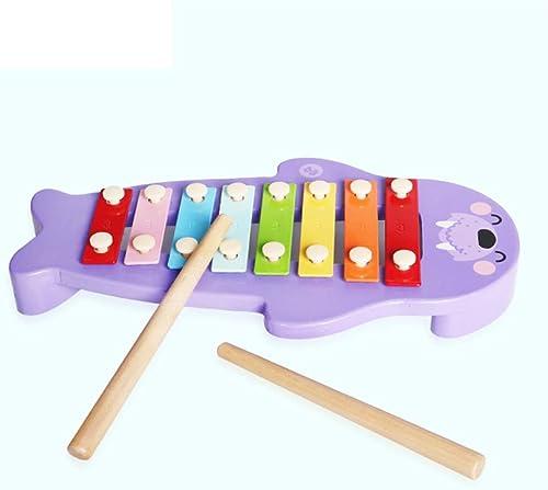 LIUFS-Klopfen Sie am Klavier Klopfen an der Kinder Spielzeug Zeichentrickfigur Xylophon Klopfen an der Klaviermusik Spielzeug (Farbe   lila)