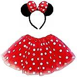 red adult tutu - So Sydney Kids Teen Adult Plus Tutu Skirt Ears Headband Costume Halloween Outfit (Plus Size), Minnie Red & White Polka Dot