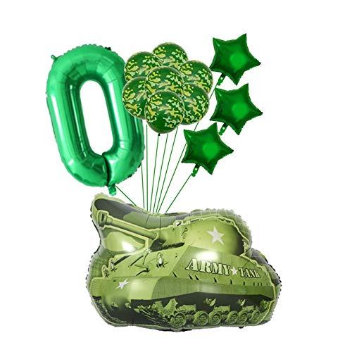 YSJJCFN Globo 12 unids/Lote Globos Verdes fijados Globos Grandes Feliz cumpleaños Tema Militar Decoración de Fiesta Regalo Niños Juguetes para niños (Color : Olive)