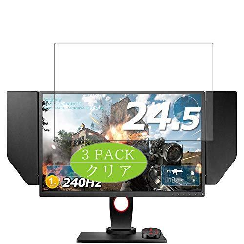 VacFun 3 Piezas HD Claro Protector de Pantalla para BenQ Monitor Zowie XL2540 24.5', Screen Protector Sin Burbujas Película Protectora (Not Cristal Templado)