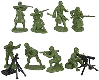 WWII US Army Infantry Fire Support Plastic Green Army Men: 16 piece set of 54mm Figures - 1:32 scale