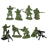 WWII US Army Infantry Fire Support Plastic Green Army Men: 16 piece set of 54mm Figures - 1:32 scale by Toy Soldiers of San Diego
