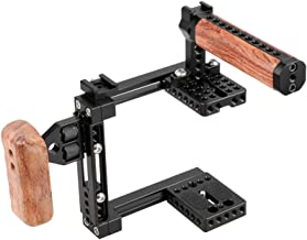 CAMVATE Universal Adjustable Camera Cage Fit for Right Handle and Left Handle Camera(Only Come with Left Handle Grip)