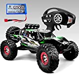 ❤ Excellent 4WD Off-Road Performance: Detailed aluminum capped oil filled shocks, solid foundation with front/rear metal gear diff. and classic ball bearings deliver a smooth drivetrain. This 4WD remote control car arrives ready to run straight out t...