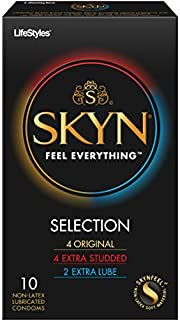 Lifestyles Skyn Selection Non-Latex Polyisoprene Condoms, 10 Count