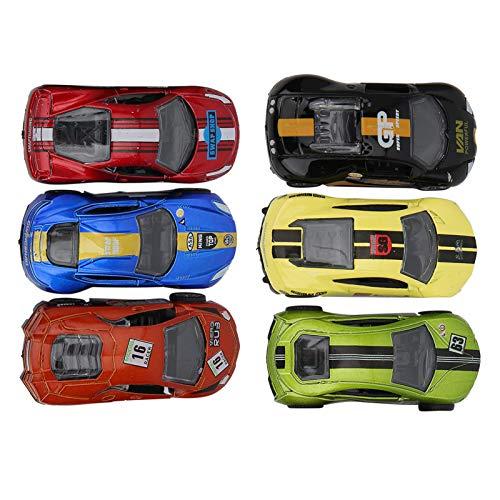 Coche de juguete para niños, modelo de vehículo de embalaje original, juguete de coche, 1:64 para niños mayores de 3 años(Super Racing Pull Back Set)
