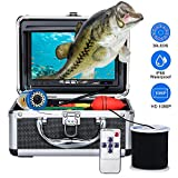 Underwater Fishing Camera, Anysun Portable Fish Finder Camera with 7'' Color LCD monitor HD1080P Waterproof IP68 Underwater Viewing System with 30m/100ft Cable for Ice, Lake, Boat, Sea Fishing(NO DVR)