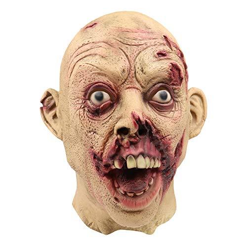 RISTHY Halloween Máscaras, Máscara Sangrienta Adultos Fiesta de Disfraces Decoración de Fiesta Accesorios Horror Zombie Walking Dead Halloween Mascara para Cosplay